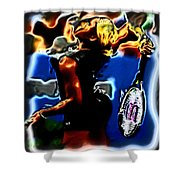 Serena Williams Thermal Catsuit Shower Curtain