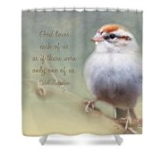 Serendipitous Sparrow - Quote Shower Curtain