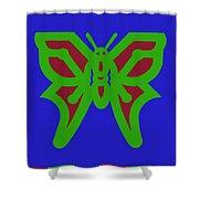 Serendipity Butterflies Blueredgreen 6of15 Shower Curtain