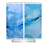 Entangled No.7 - Abstract Painting Shower Curtain