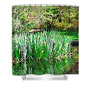 Serene Iris Shower Curtain