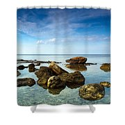 Serene Shower Curtain by Stelios Kleanthous