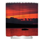Serene Sunset Shower Curtain