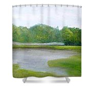 Serene Vista Shower Curtain