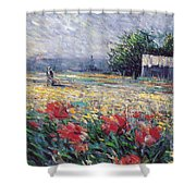 Serenety Shower Curtain by Rosario Piazza