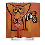 Serengeti Cat Shower Curtain