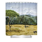 Serengeti Painting Shower Curtain