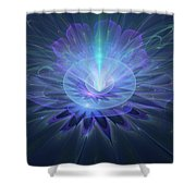 Serenity Abstract Fractal Shower Curtain