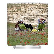 Serenity At Lachish Shower Curtain