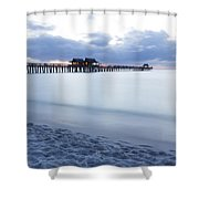 Serenity At Naples Pier Shower Curtain