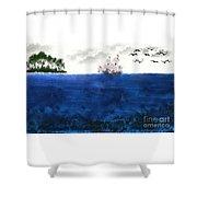 Serenity At Sea Shower Curtain