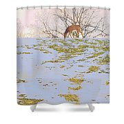 Serenity In The Spring Snow Shower Curtain