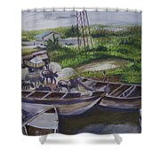 Serenity Of Waterside Shower Curtain