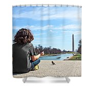 Serenity On The National Mall Shower Curtain