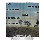 Serenity Prayer Field Shower Curtain