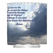 Serenity Prayer Shower Curtain