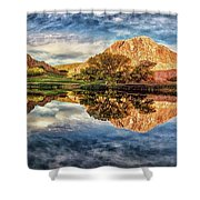 Serenity - Reflection Shower Curtain