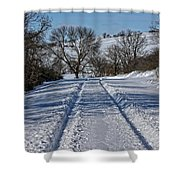 Serenity Road Shower Curtain