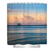 Serenity Sailing Shower Curtain