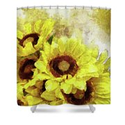 Serenity Sunflowers Shower Curtain