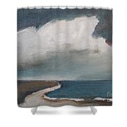 Serenity Under Clouds Shower Curtain