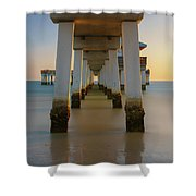 Serenity Under The Pier Shower Curtain