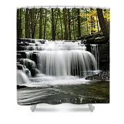 Serenity Waterfalls Landscape Shower Curtain