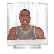Serge Ibaka Shower Curtain by Toni Jaso