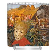 Sergei Esenin 1895-1925 As A Youth, Boris Grigoriev Shower Curtain