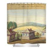 Sergei Sudeikin Russian 1882-1946 Stage Design Shower Curtain