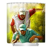 Sergio Garcia In The Madrid Masters Shower Curtain