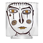 Serious Cry  Shower Curtain