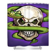 Serpent Evil Skull Shower Curtain