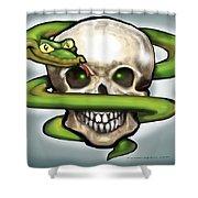 Serpent N Skull Shower Curtain