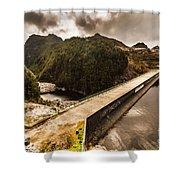 Serpentine River Crossing Shower Curtain
