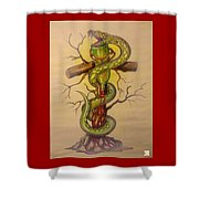 Serpent's Law Shower Curtain