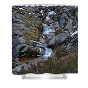 Serra Da Estrela Mountains And Waterfall Shower Curtain