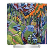 Sertig Path In Summer Shower Curtain