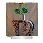 Servant Giraffe Shower Curtain