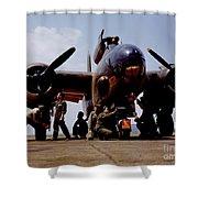 Servicing An A-20 Bomber Langley Field Va Shower Curtain