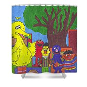 Children's Characters Shower Curtain