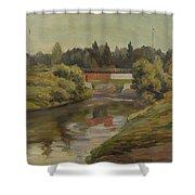 Sestra River Shower Curtain