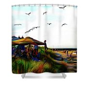 Sesuit Tetraptych 2 Shower Curtain