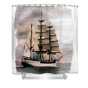 Set Sail Shower Curtain by Aaron Berg