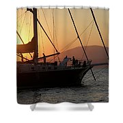 Set Sail On The Aegean At Sunset Shower Curtain