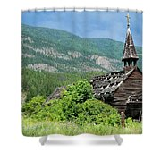 Seton Portage Church 2 Shower Curtain