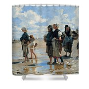 Setting Out To Fish Shower Curtain