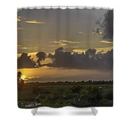 Setting Sun Before The Storm Shower Curtain