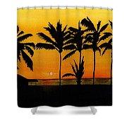 Setting Sun In The Tropics Shower Curtain