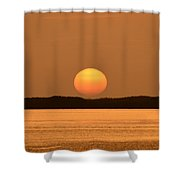 Setting Sun On Coastal Florida Shower Curtain